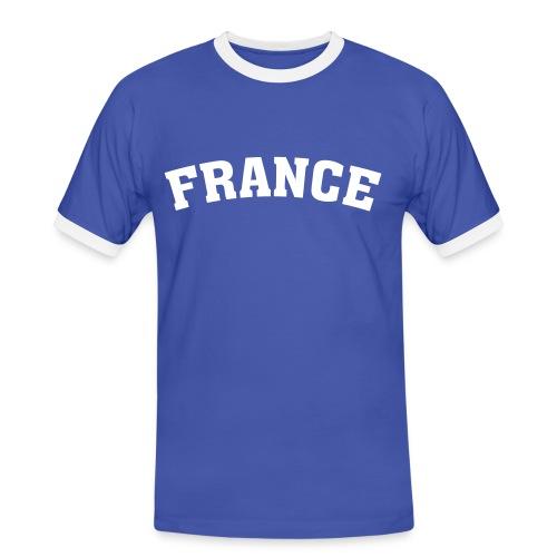 France Shirt - Männer Kontrast-T-Shirt