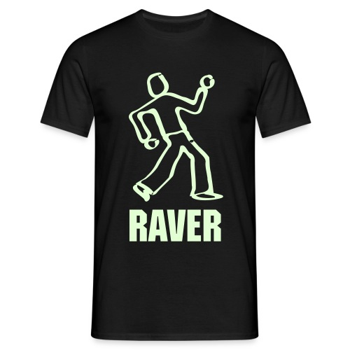I am a Raver (Glow in the dark) - Men's T-Shirt