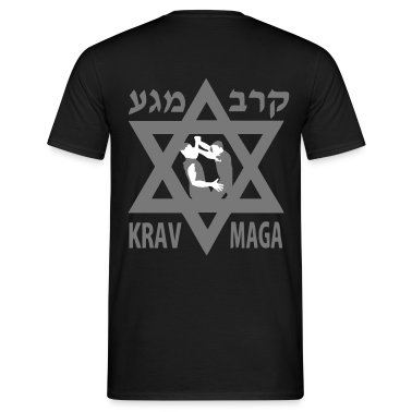 Black Krav Maga Star of David Men's Tees