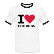 T-Shirts ~ Men's Ringer Shirt ~ I love free hugs
