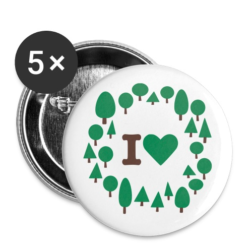5 pack  - Buttons small 25 mm