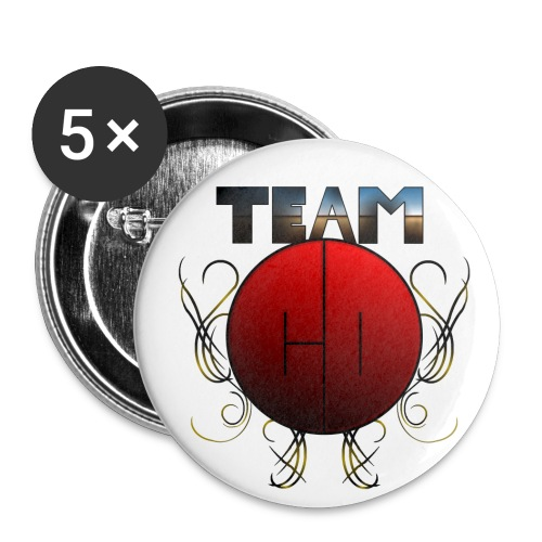 Team-CD button - Middels pin 32 mm (5-er pakke)