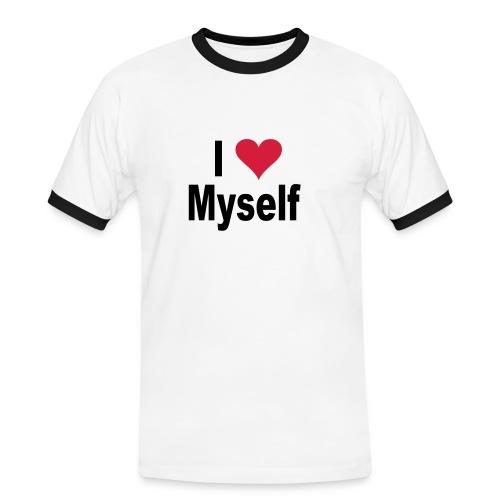 i love4 - T-shirt contrasté Homme