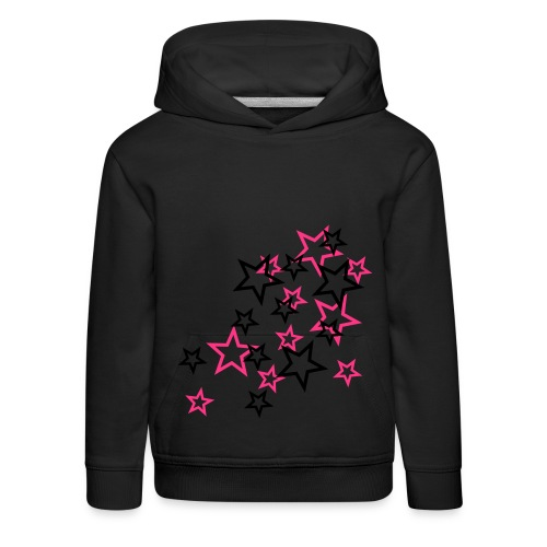 Girls stars sweater - Kinderen trui Premium met capuchon