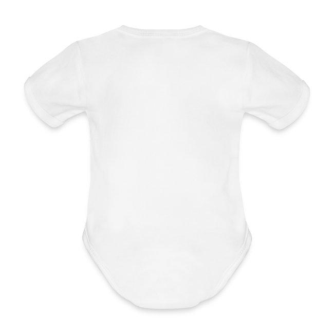 Kortermet barnebody-hvit