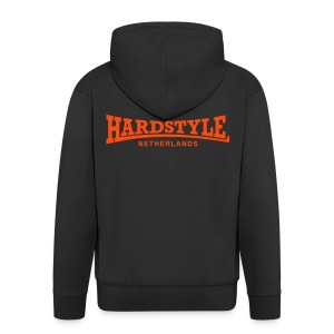 Hardstyle Netherlands - Neonorange - Men's Premium Hooded Jacket