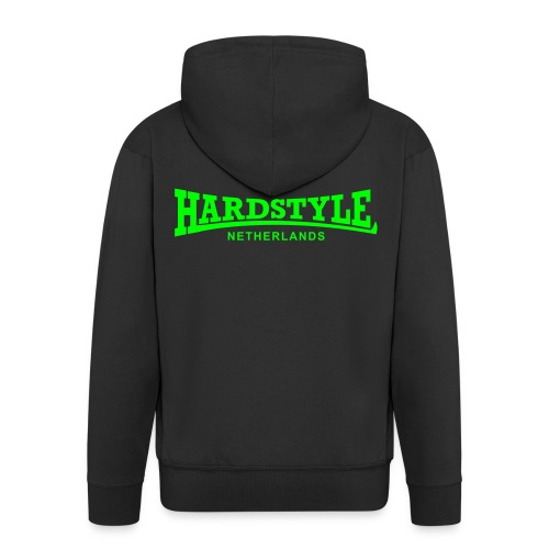 Hardstyle Netherlands - Neongreen - Men's Premium Hooded Jacket