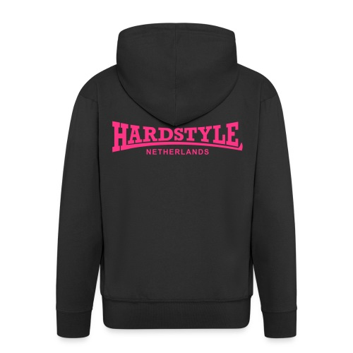 Hardstyle Netherlands - Neonpink - Men's Premium Hooded Jacket