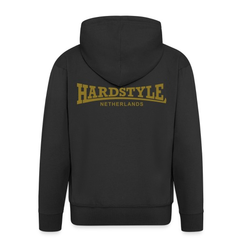 Hardstyle Netherlands - Gold - Men's Premium Hooded Jacket