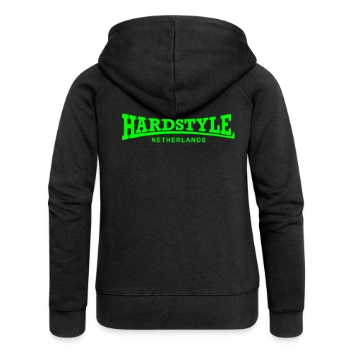 Hardstyle Netherlands - Neongreen - Women's Premium Hooded Jacket