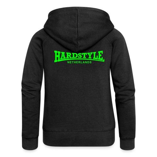 Hardstyle Netherlands - Neongreen - Women's Premium Hooded Jacket