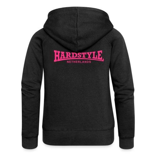 Hardstyle Netherlands - Neonpink - Women's Premium Hooded Jacket