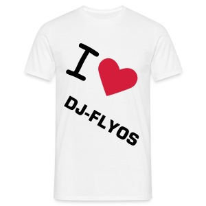 T-Shirt Basique Homme I Love Dj-Flyos (Production 3) - T-shirt Homme