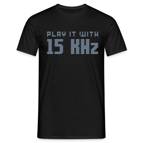 Play it with 15KHz (silver) - Men's T-Shirt