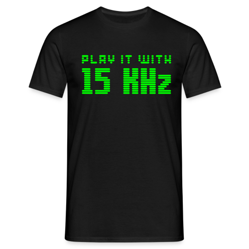 Play it with 15KHz (neon) - Men's T-Shirt
