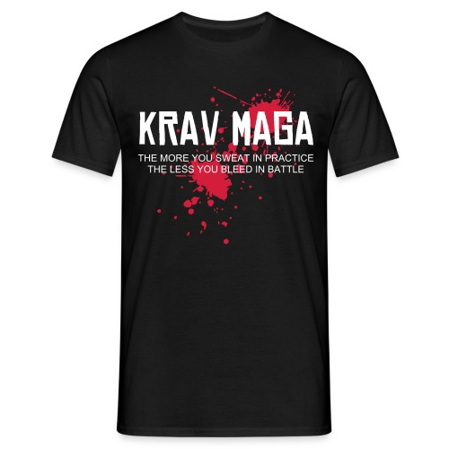 Krav Maga splatter Black T - Men's T-Shirt