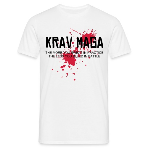 Krav Maga splatter white T - Men's T-Shirt