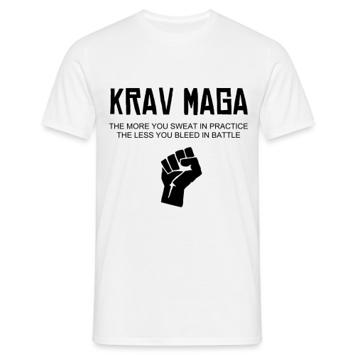 Krav Maga fist white T - Men's T-Shirt