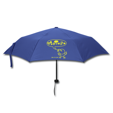 Royal blue Rude Chicken Umbrellas