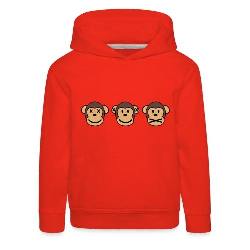 Drei Affen - Kinder Premium Hoodie