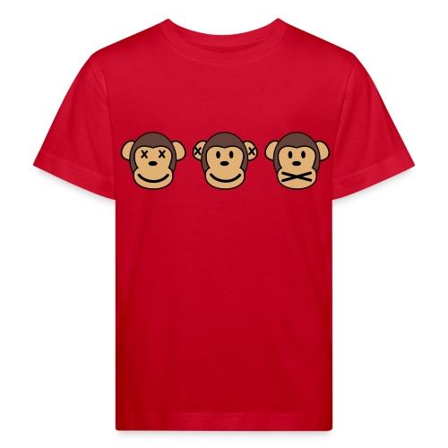 Drei Affen - Kinder Bio-T-Shirt