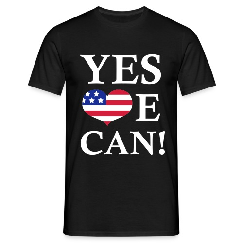 YES WE CAN! - Herre-T-shirt