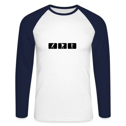 Sport Sweatshirt - Männer Baseballshirt langarm
