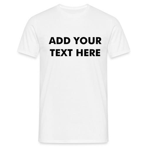 Susan Boyle Add Your Own Text - Personalise - Men's T-Shirt