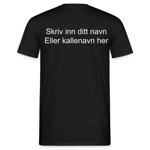 T-skjorte - right inn your name - T-skjorte for menn