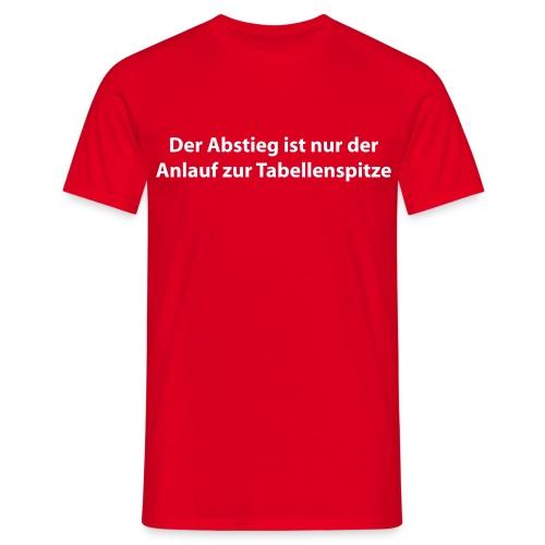 Abstieg Rot - Männer T-Shirt