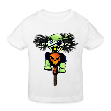 Weiß Kleiner Vorstadt-Pirat / little suburban pirate (DDP) Kinder T-Shirts
