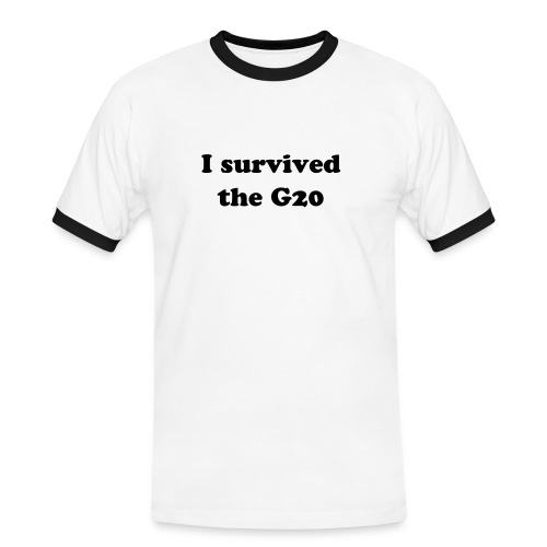 I survived the G20 - Men's Ringer Shirt