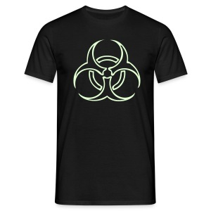 Biohazard Lines - Glow in the dark - T-shirt herr