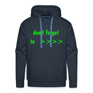 don't forget to AFTER BANG !! - Men's Premium Hoodie