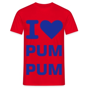 I Love Pum Pum RED/BLU - Men's T-Shirt