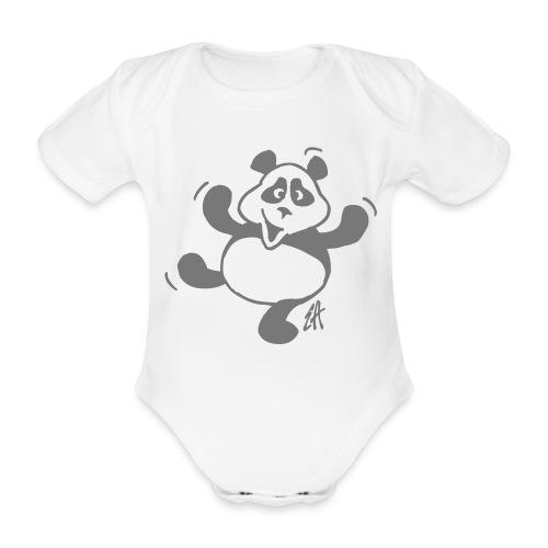 Dansande panda - Ekologisk kortärmad babybody