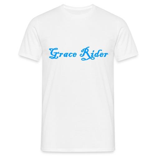 GRACE RIDER T-Shirt (blau auf weiß) MEN - Männer T-Shirt