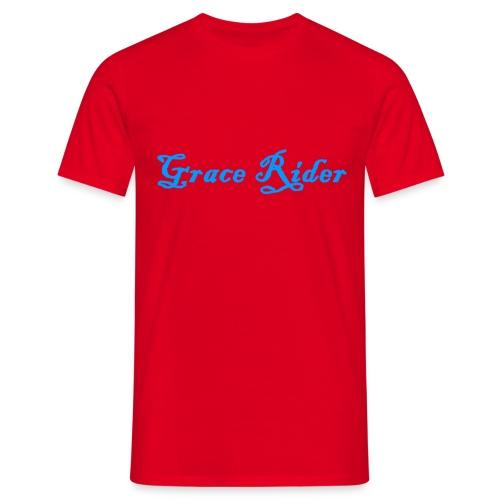GRACE RIDER T-Shirt (blau auf rot) MEN - Männer T-Shirt