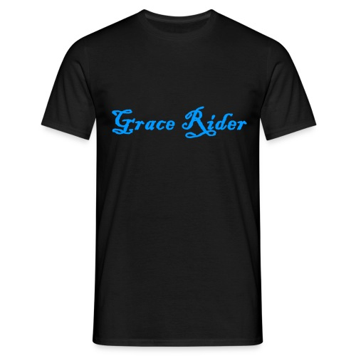 GRACE RIDER T-Shirt (blau auf schwarz) MEN - Männer T-Shirt