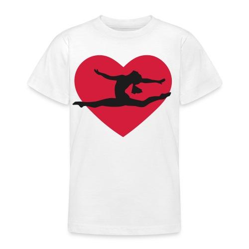 Love Gymnastics Girls Tee - Teenage T-shirt