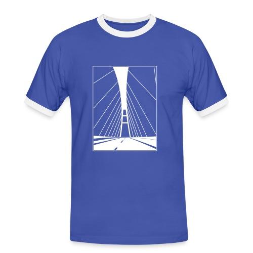 Männer Kontrastshirt Rügenbrücke - Männer Kontrast-T-Shirt