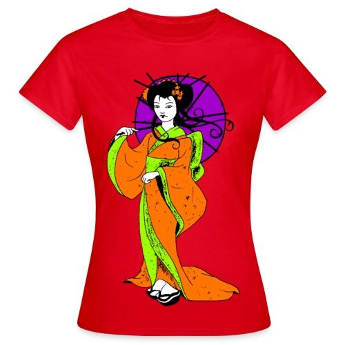 T shirt femme geisha - T-shirt Femme