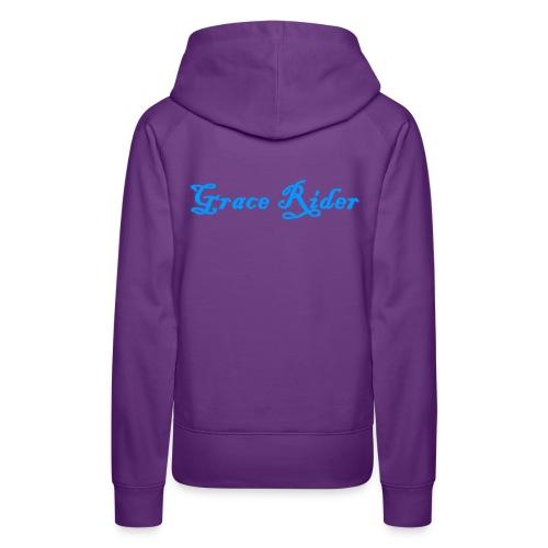 GRACE RIDER Hoodie (blau auf violet) WOMEN - Frauen Premium Hoodie