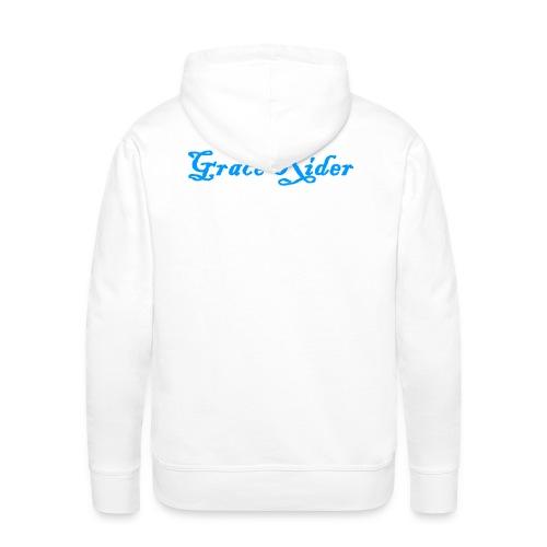 GRACE RIDER Hoodie (blau auf weiß) MEN - Männer Premium Hoodie