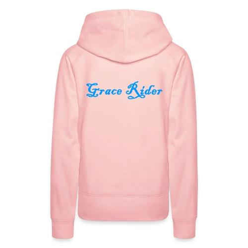 GRACE RIDER Hoodie (blau auf pink) WOMEN - Frauen Premium Hoodie