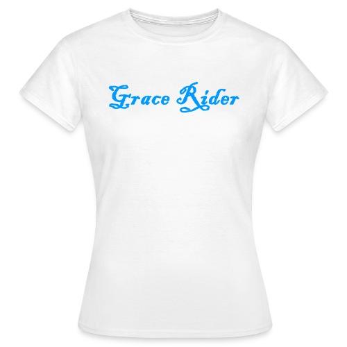 GRACE RIDER T-Shirt (blau auf weiß) WOMEN - Frauen T-Shirt