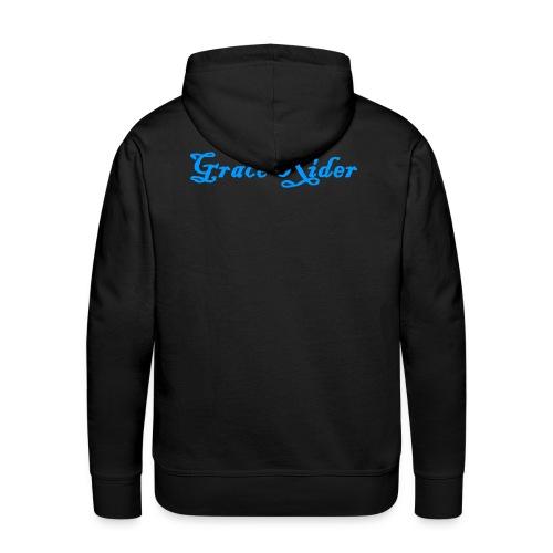 GRACE RIDER Hoodie (blau auf schwarz) MEN - Männer Premium Hoodie