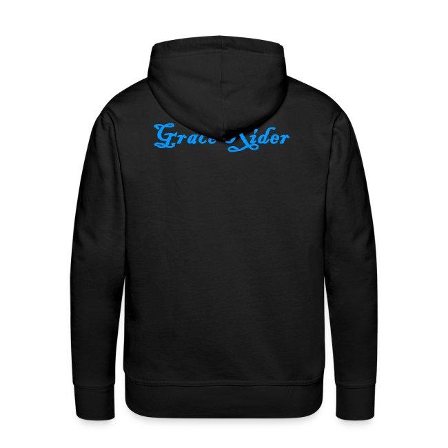 GRACE RIDER Hoodie (blau auf schwarz) MEN