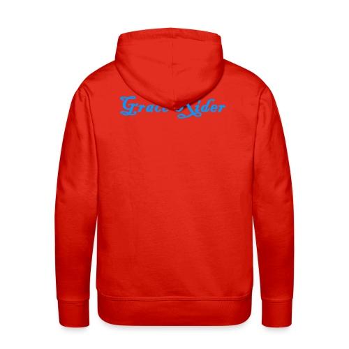 GRACE RIDER Hoodie (blau auf rot) MEN - Männer Premium Hoodie