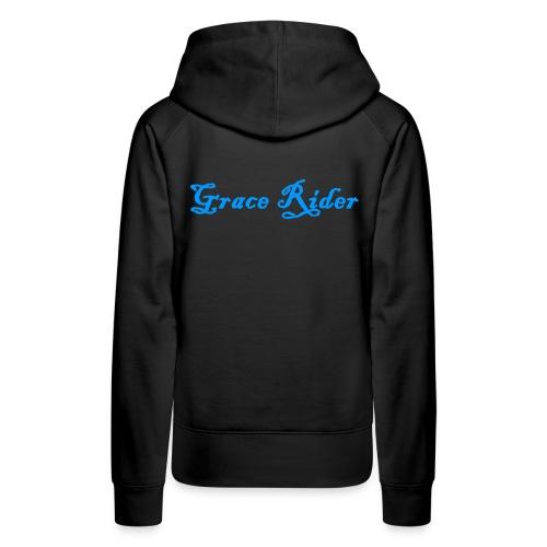 GRACE RIDER Hoodie (blau auf schwarz) WOMEN - Frauen Premium Hoodie